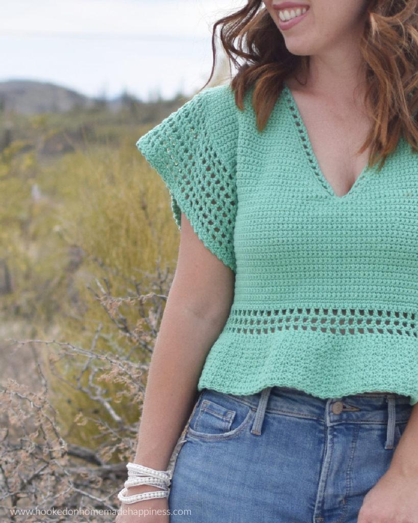Garden Party Top Crochet Pattern - The Garden Party Top Crochet Pattern is such a fun summer crochet project!