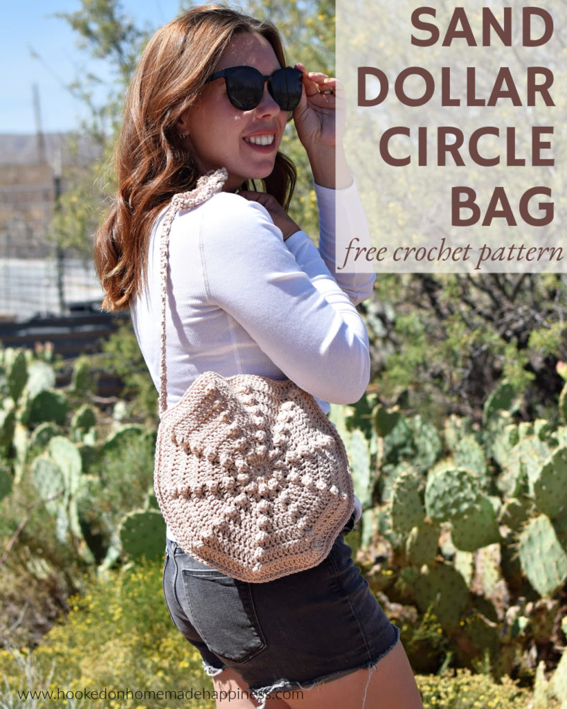 Sand Dollar Circle Bag Crochet Pattern - The Sand Dollar Circle Bag Crochet Pattern is the perfect small, summer bag.