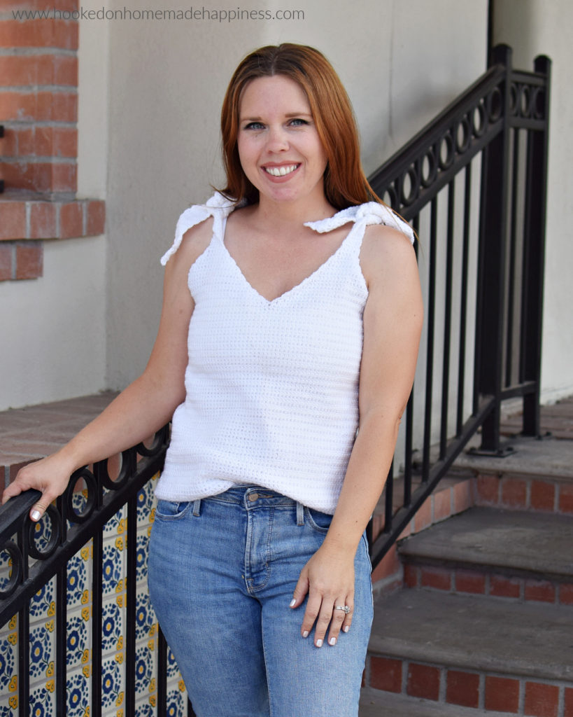 Better than Basic Tank Top Crochet Pattern - The Better Than Basic Tank Top Crochet Pattern is such a simple tank top pattern. It can easily be dressed up or down and can easily be adjusted. Sport weight yarn is used which makes it lightweight and perfect for summer.