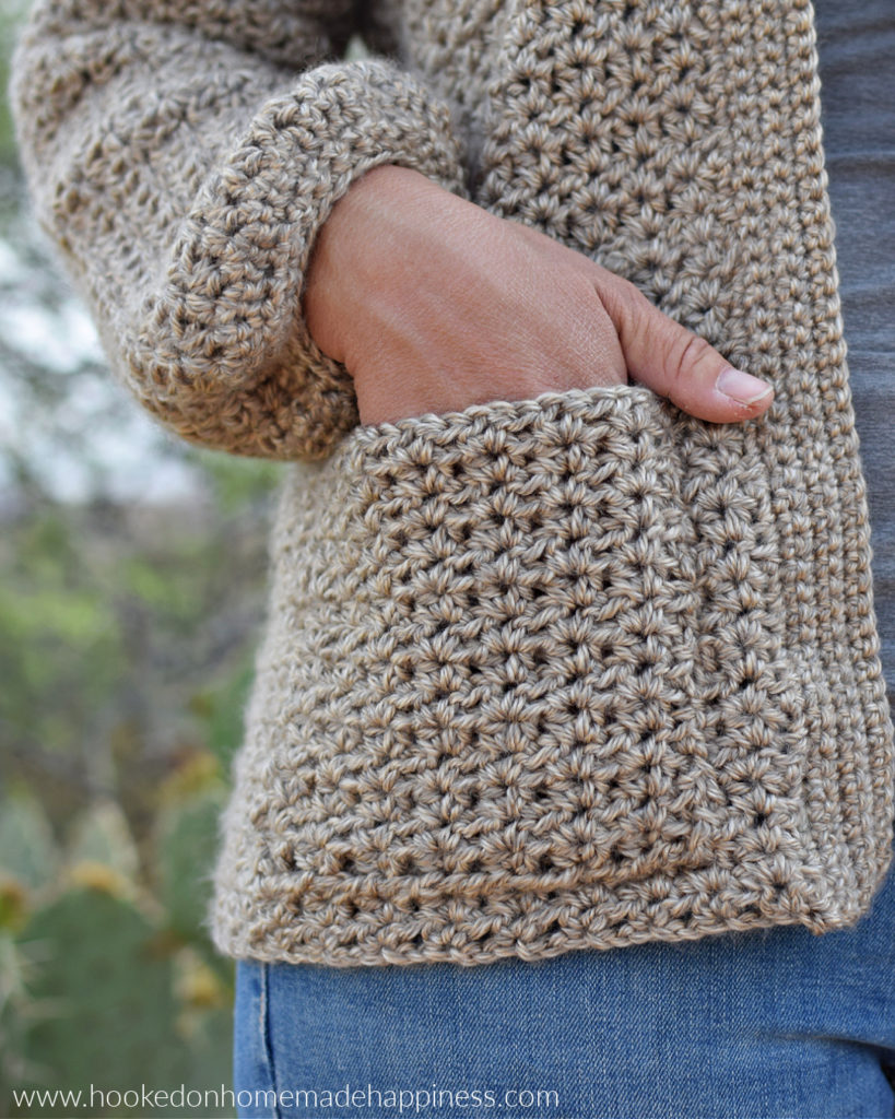Catalina Cardigan Crochet Pattern - The Catalina Cardigan Crochet Pattern is a beginner level cardigan pattern. It's made as almost one piece and has very little sewing. I will have a video tutorial to help every step of the way!